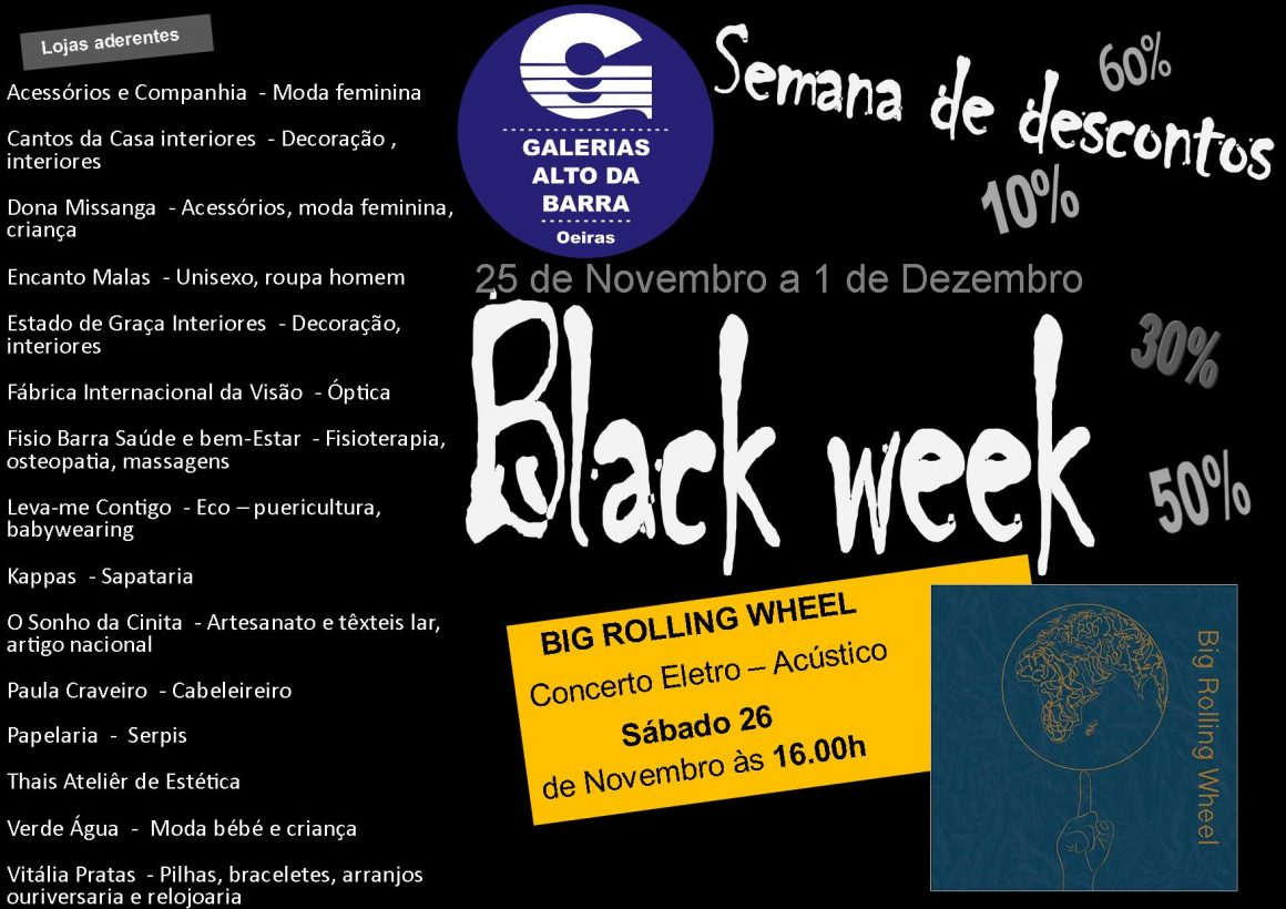 Black week / Semana de descontos