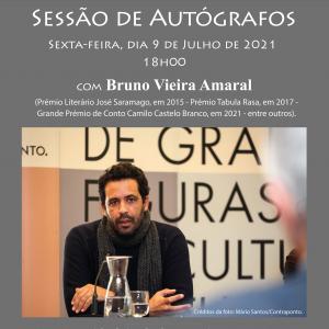 Sessão de autógrafos com Bruno Vieira Amaral