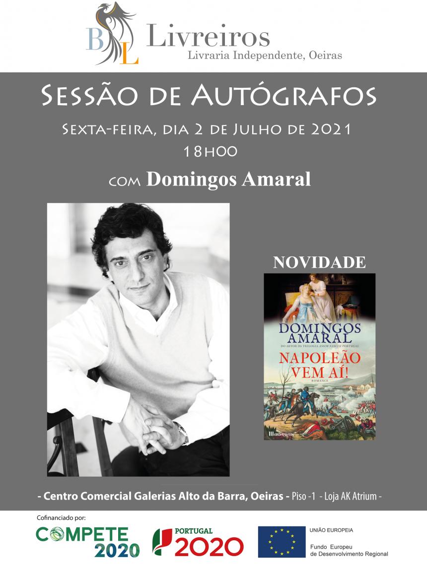 Sessão de autógrafos com Domingos Amaral