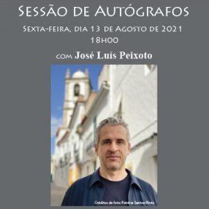Sessão de autógrafos com José Luis Peixoto