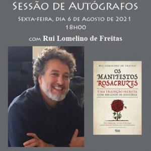 Sessão de autógrafos com Rui Lomelino de Freitas