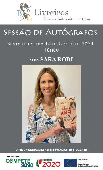 Sessão de autógrafos com Sara Rodi